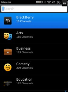 The New BlackBerry Podcasts App.