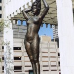 Ballerina Statue in front of One Woodward Avenue Building