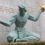 Spirit of Detroit statue, Detroit, Michigan